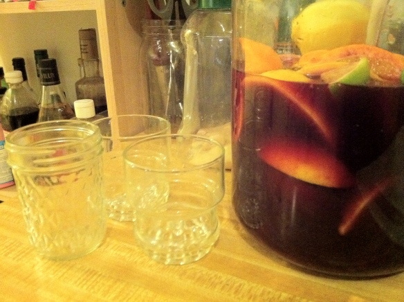 Roommate dinner night - Mom's sangria